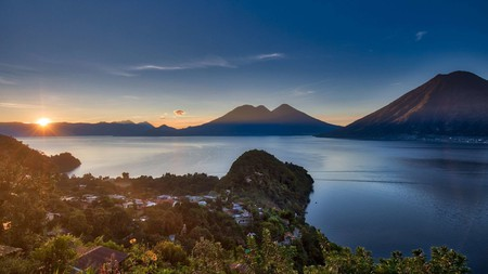 The view from the shores of Lake Atitlán is dreamy