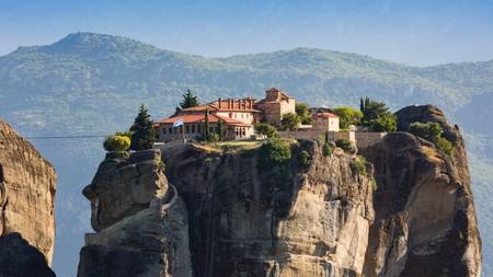The Eastern Orthodox Holy Trinity Monastery, Meteora, Greece.