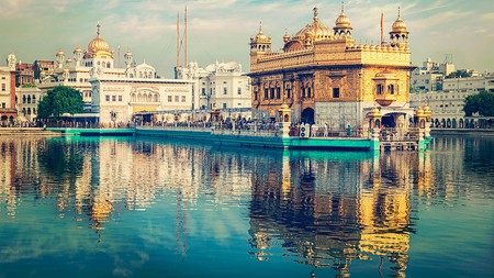 The Golden Temple is the holiest shrine in Sikhism