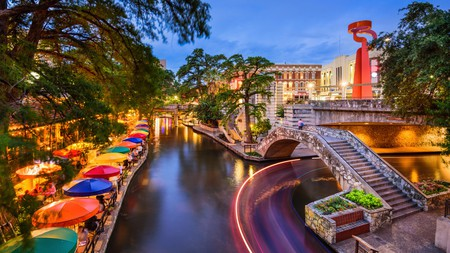 Take a drive to San Antonio and explore the city's bustling River Walk