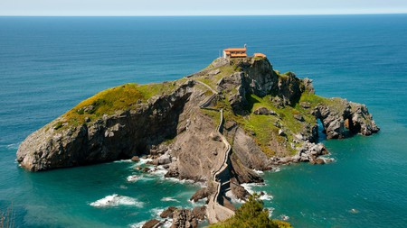 The islet of Gaztelugatxe in the Bay of Biscay, Spain, one of the country's many stunning Game of Thrones locations.