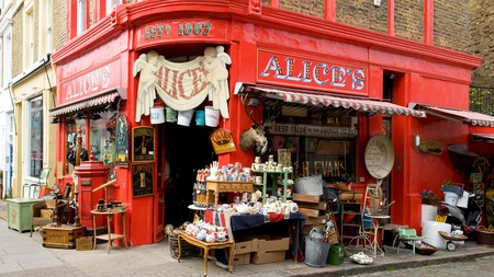 Alice's, or rather Mr Grubers Antique Shop, is an iconic London spot that has appeared in the Paddington films.