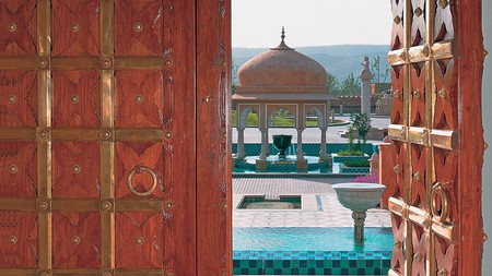 If you fancy a stay at a royal resort, the Oberoi Rajvilas in Jaipur, India, is your perfect choice