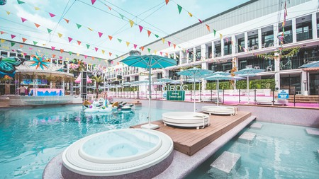 For pool-party vibes, book a stay at Ibiza Rocks Hotel on Ibiza, Spain