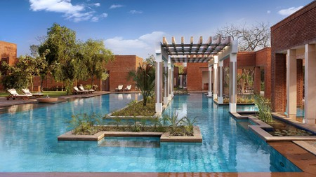 Get ready for a luxurious swim at the ITC Mughal Hotel in Agra, India