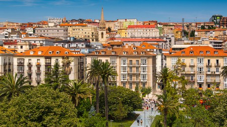 A panoramic view of Santander in Cantabria, northern Spain, a gem of a city famed for its beaches