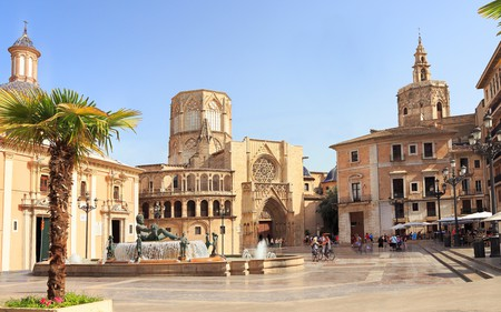 Plaza de la Virgen is one of Valencia's must-see destinations near to the cathedral in the Old Town