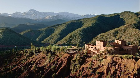 Kasbah Bab Ourika sits atop of Ourika Valley, Morocco, guaranteeing spectacular views