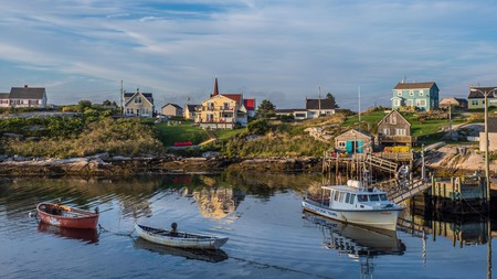 Stroll around Peggy's Cove in Nova Scotia to reconnect with nature