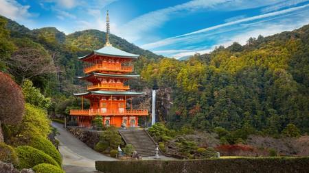 The pagoda of Seiganto-ji Temple at Nachi Katsuura, a Unesco World Heritage Site