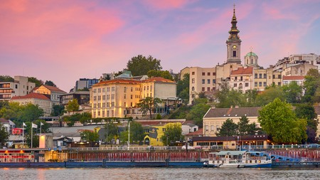 Enjoy a sunset along the river on a city break to Belgrade