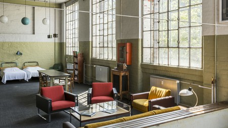 Stay in an art gallery, music-themed retreat or former factory