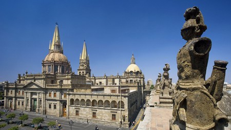 The multi-spired Guadalajara Cathedral dominates the Centro Histórico