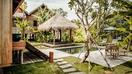 Stay in one of 45 stilted villas at Phum Baitang, an ecolodge on the outskirts of Siem Reap