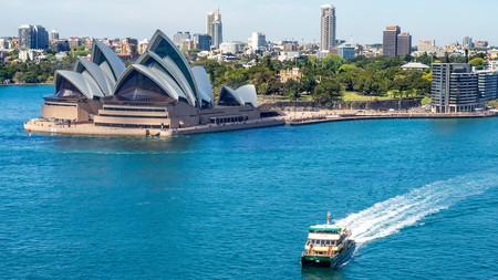 Public transport ferry in Sydney Harbour