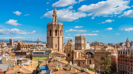 Enjoy fabulous views over the dramatic skyline of Valencia, Spain, from many hotel rooftop terraces