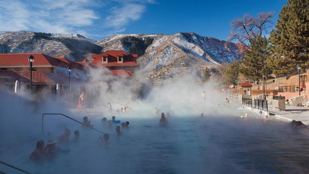 Join the crowd and sink into the Hot Springs in Glenwood, Colorado