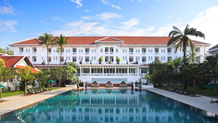 Grandeur doesn't get any more stately than the historic Raffles Grand Hotel d'Angkor