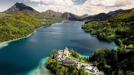 Staying in a castle in Austria will allow you to rest in historical surroundings and take in gorgeous views