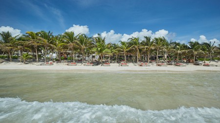 Seafront hostels such as Selina make Tulum a beach lover's paradise, even for those on a budget