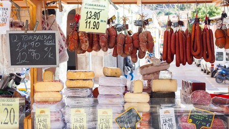 Cured meats and cheeses are a speciality on the Balearic Islands