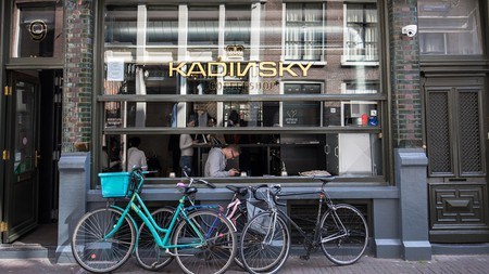 The laid-back Kadinsky is just one of hundreds of licensed coffee shops in Amsterdam
