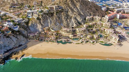 The Resort at Pedregal in Los Cabos, Mexico, overlooks Solmar Beach