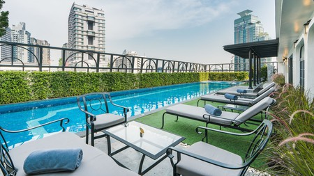 Thonglor has a bevy of great places to stay, whether you're looking for a social vibe or a rooftop pool, like at the Salil Hotel