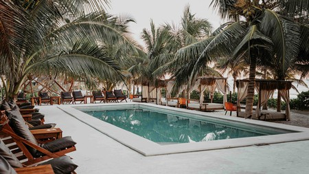 You can always nurse your hangover by the pool at Selina Tulum