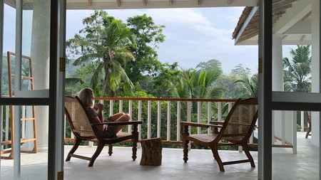 Enjoy the views and savour a cup of tea on your private terrace at Good Vibes Villas