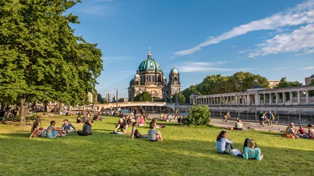Settle down for a picnic and admire the Berlin Dom from James-Simon-Park on Museum Island