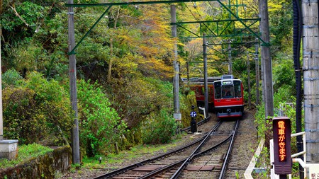 The Hakone Tozan line, a route famous for its views of hydrangea flowers