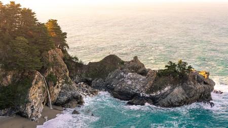 McWay Falls on the Big Sur coastline in California