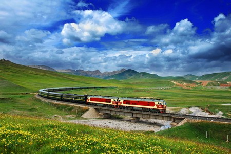 The Qinghai-Tibet railway is the highest rail route in the world