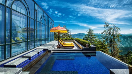 For a relaxing getaway complete with sweeping vistas of the Himalayas, the Wildflower Hall in Shimla won't disappoint