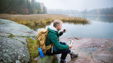 A hot cup of coffee is a good way to warm up in Finland