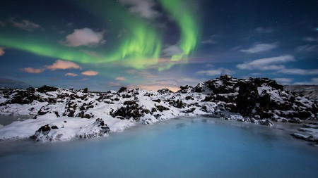 Watch the Northern Lights from the Retreat at Blue Lagoon Iceland