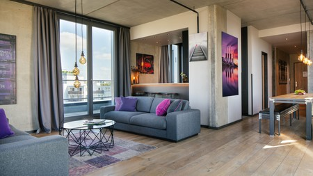 Check into the sleekly-designed Downtown Apartments in Berlin and enjoy statement light fittings and complimentary toiletries