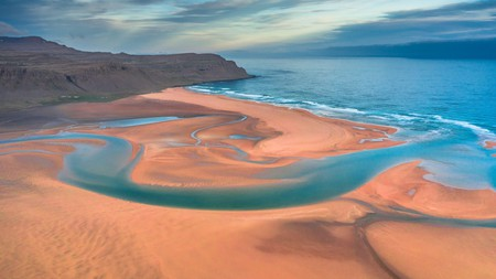 The vibrant Rauðasandur beach in the West Fjords of Iceland