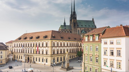 Brno's Old Town skyline is dominated by the Cathedral of St Peter and Paul