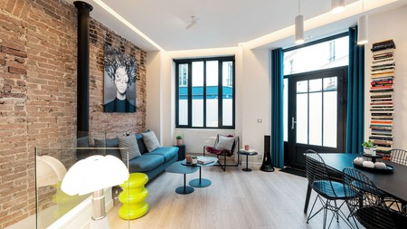 Enjoy bold colours and modern design at The Loft in the heart of the Marais