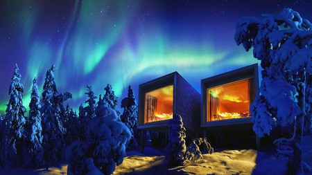 Stay in the Arctic TreeHouse Hotel and you might catch the Northern Lights