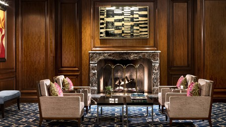 Relax in the cigar lounge of the Ritz-Carlton