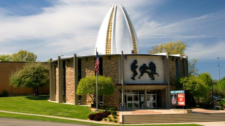 ACY5H3 The Pro Football Hall of Fame in Canton, Ohio.