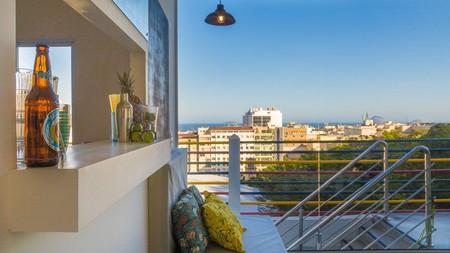 Enjoy city views from the rooftop of the Aqualera do Leme hotel, Rio de Janeiro