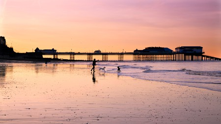 The beach at Cromer is the perfect dog-walking spot