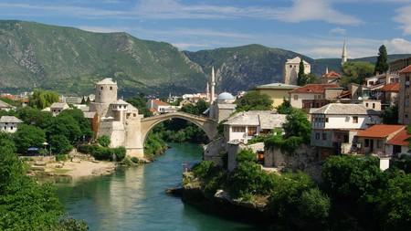 Mostar's iconic bridge spans the beautiful Neretva River