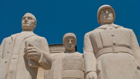 Statue at Anitkabir, the mausoleum of Mustafa Kemal Ataturk, founder of the Republic of Turkey