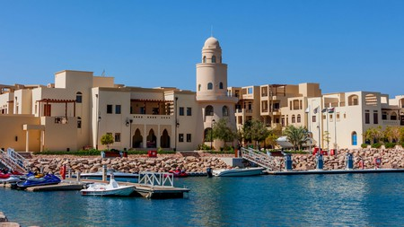 Enjoy a stroll or boat ride along the northern tip of the Gulf of Aqaba
