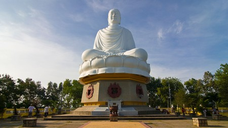 The giant Buddha at Long Son Pagoda was built in 1964